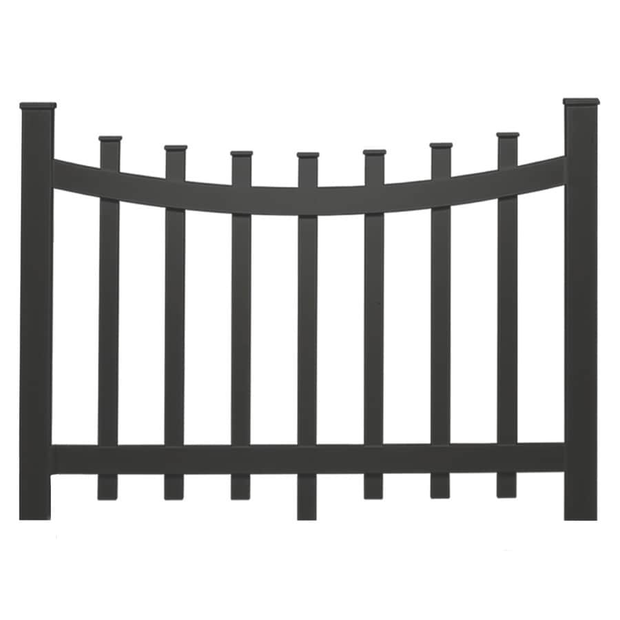 vinyl fence panels lowes. Barrette 38-in X 47-in Black Vinyl Fence Panel Panels Lowes E