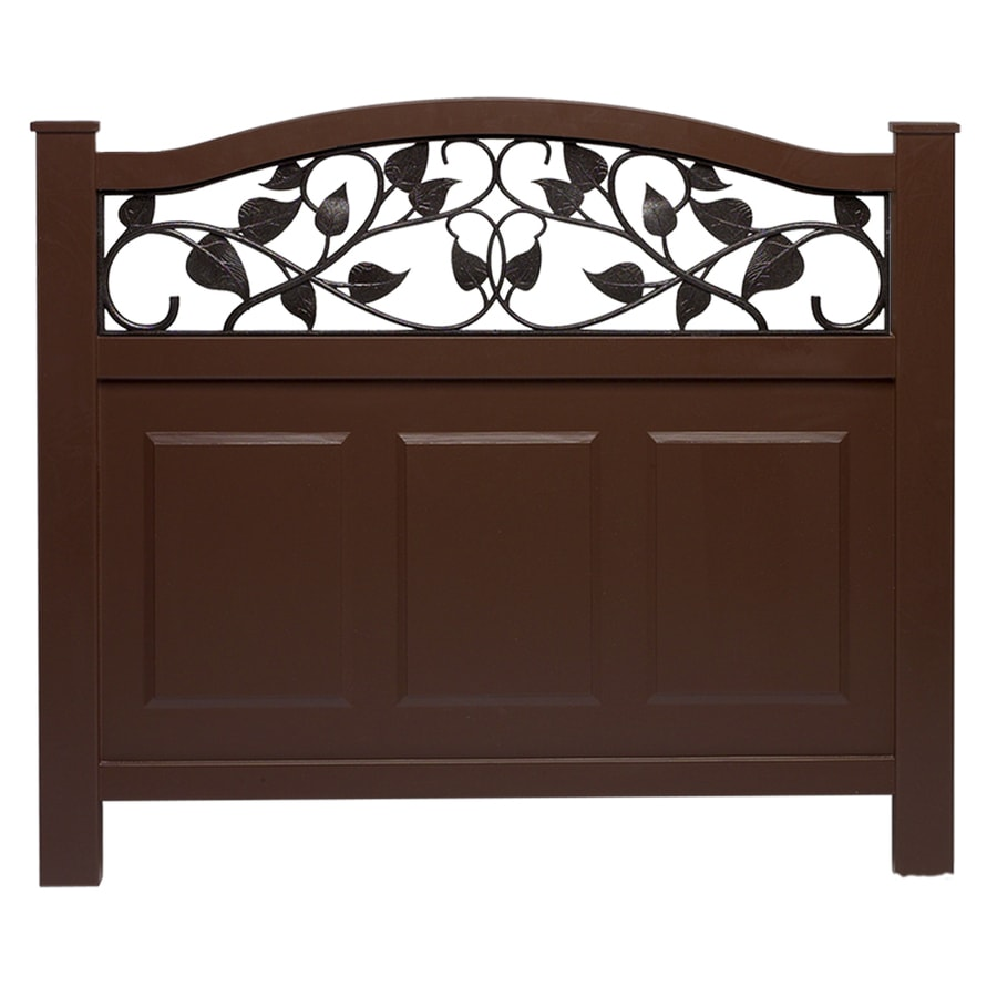 Shop Barrette 38 In X 39 In Brown Vinyl Fence Panel At