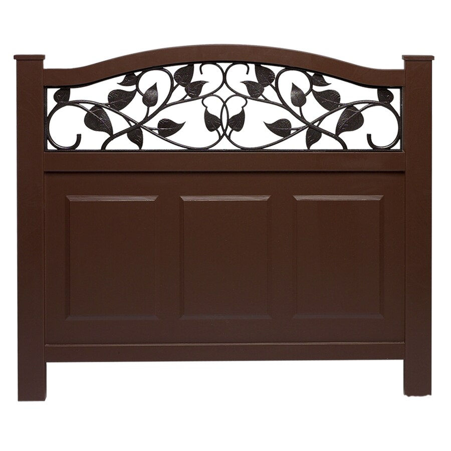 Barrette 38 In X 39 Brown Vinyl Fence Panel