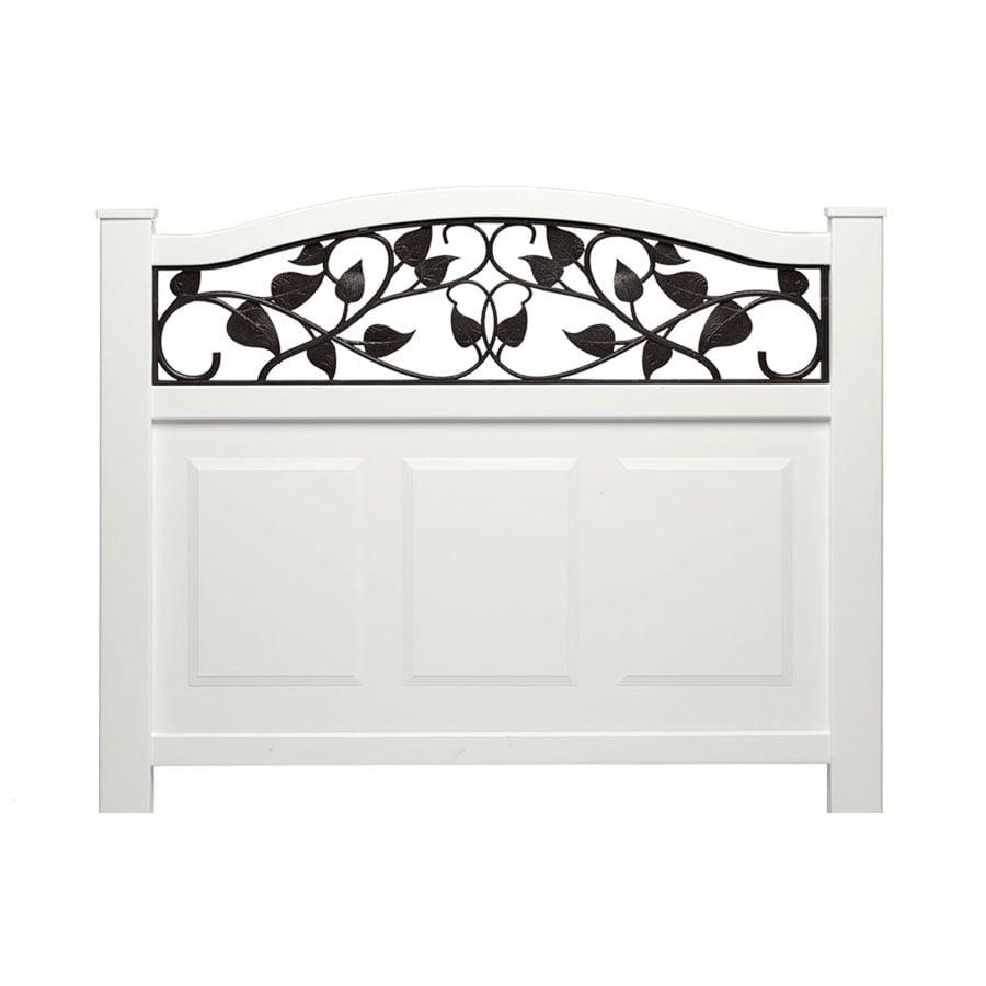 Barrette White Decorative Metal Fence Panel (Common: 3-ft x 3-ft; Actual: 3.135-ft x 3.21-ft)