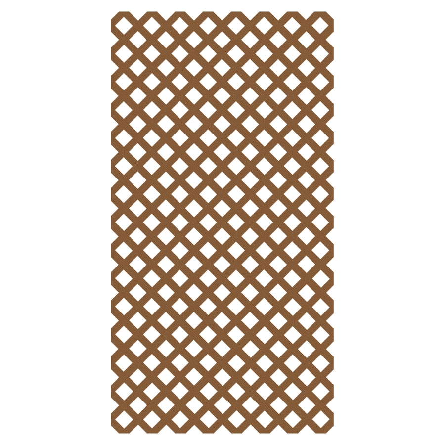 Freedom Redwood Vinyl Traditional Lattice (Common: 3/20-in x 48-in x 8-ft; Actual: 0.15-in x 47.53-in x 7.92-ft)