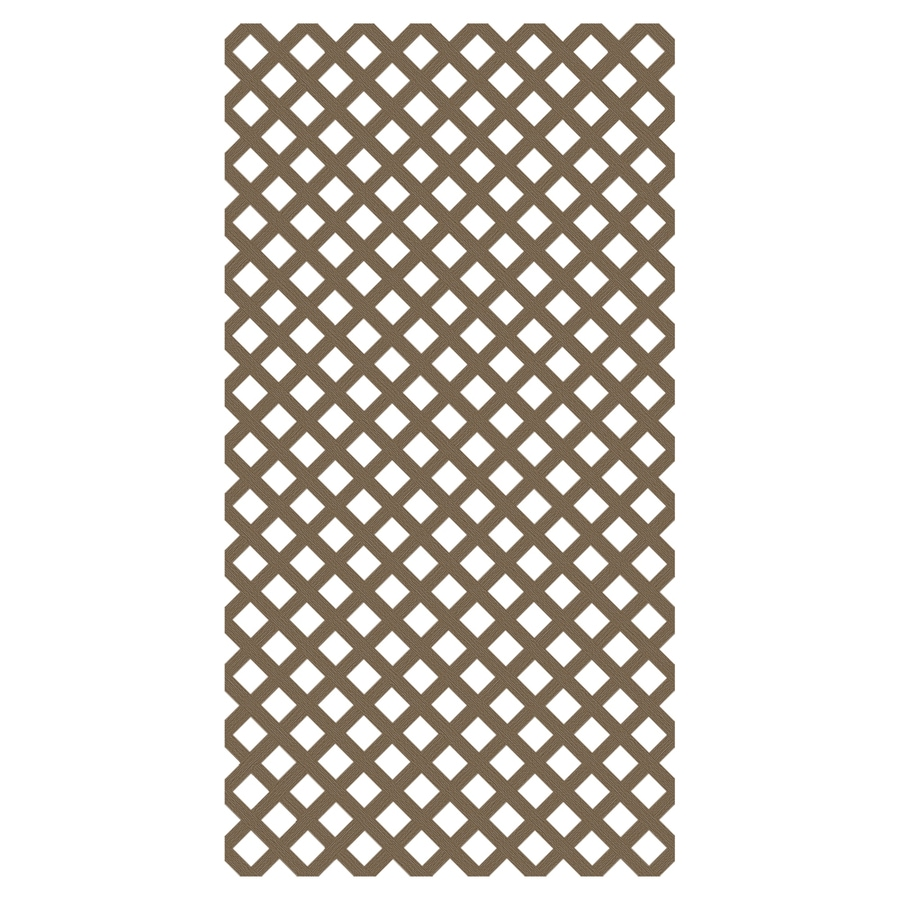 Freedom Saddle Vinyl Traditional Lattice (Common: 3/20-in x 48-in x 8-ft; Actual: 0.15-in x 47.53-in x 7.92-ft)