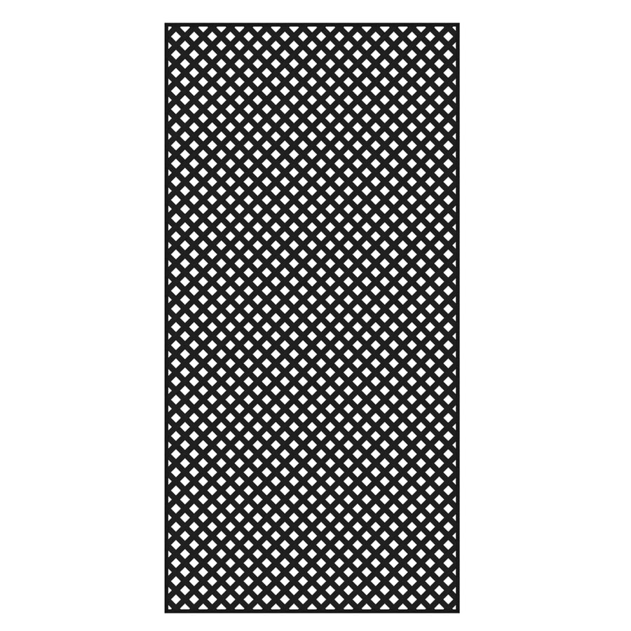 Freedom (Common: 1/4-in x 48-in x 8-ft; Actual: 0.19-in x 47.53-in x 7.92-ft) Black Vinyl Privacy Lattice