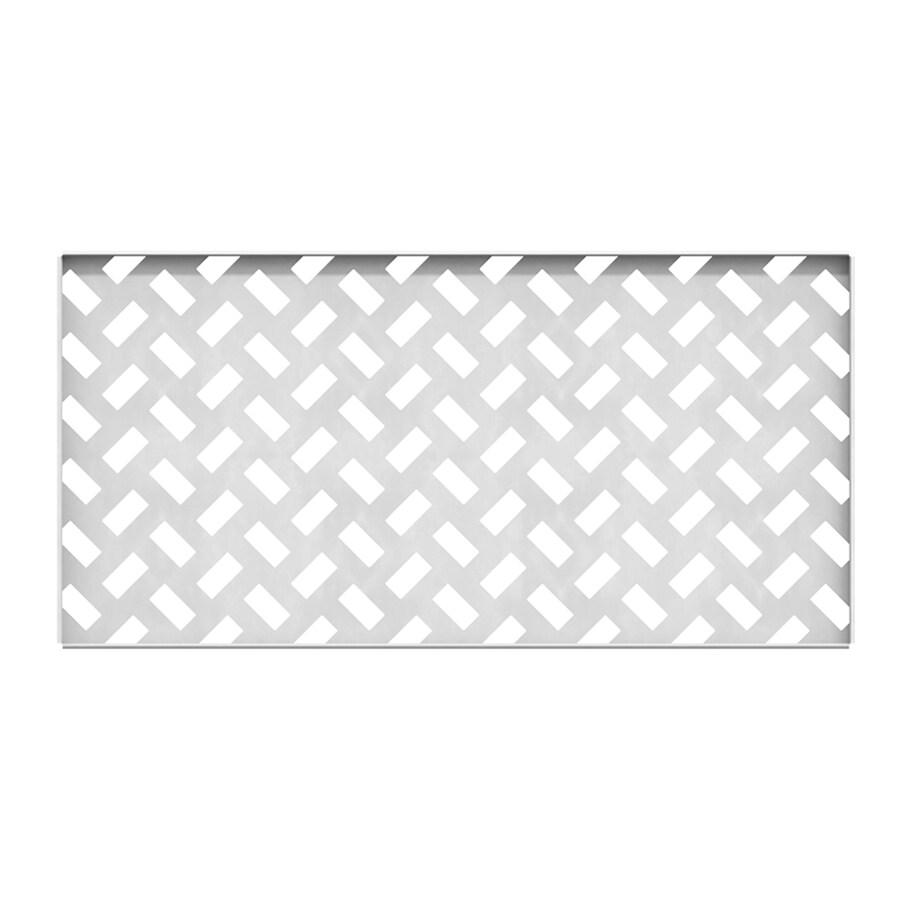 Freedom Connections White Vinyl Garden Fence Panel (Common: 1.53-in x 35.25-in x 18.75-in; Actual: 1.53-in x 35.25-in x 18.75-in)