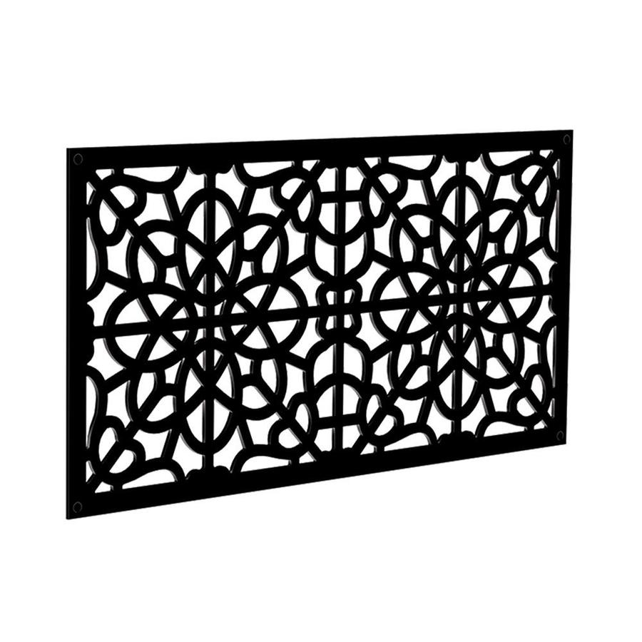 Freedom (Common: 24-in x 4-ft; Actual: 0.3-in x 23.875-in x 3.989-ft) Black Vinyl Lattice