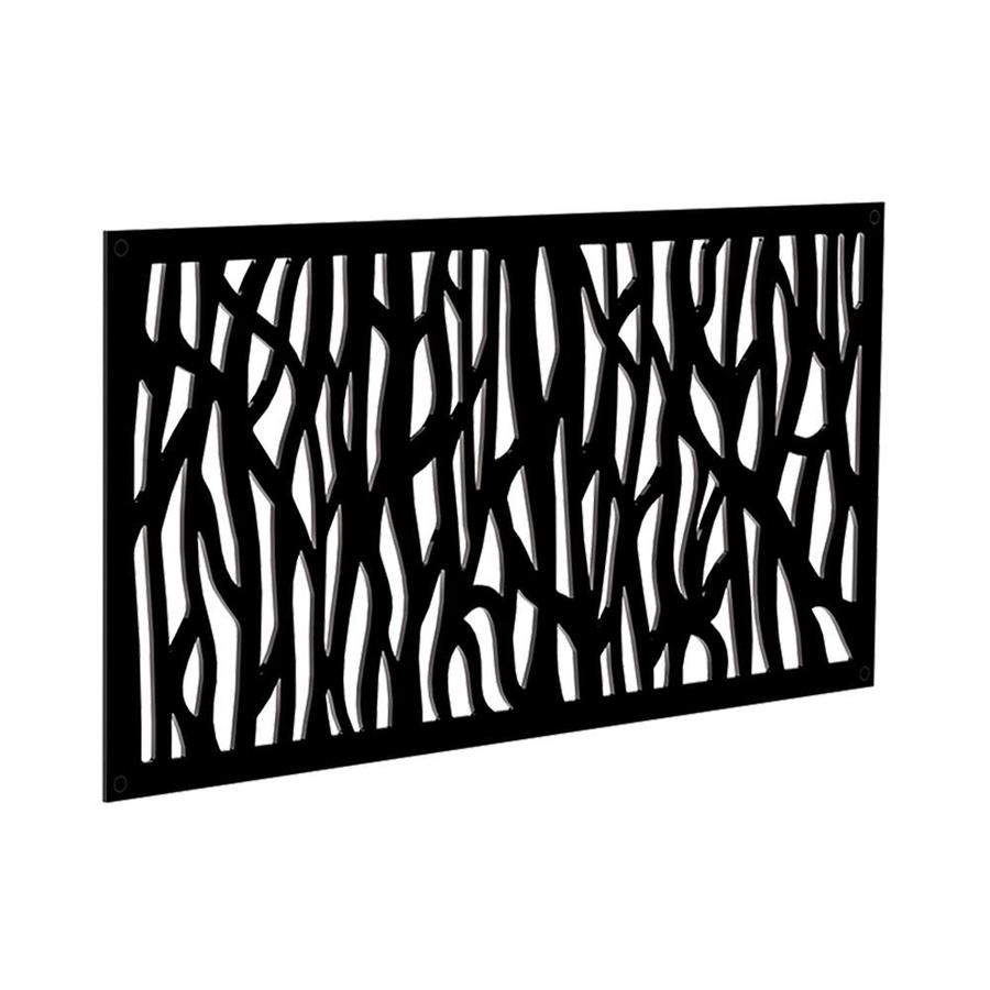 Freedom (Common: 24-in x 4-ft; Actual: 0.3-in x 23.875-in x 3.989-ft) Black Vinyl Lattice