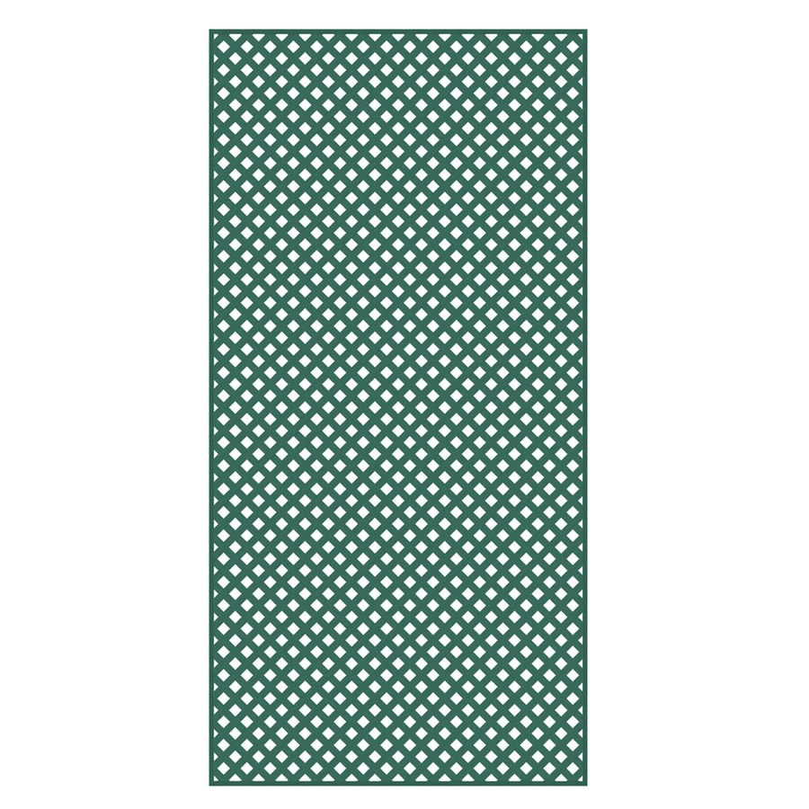 Barrette 3/16-in x 4-ft x 8-ft Green Privacy Vinyl Lattice