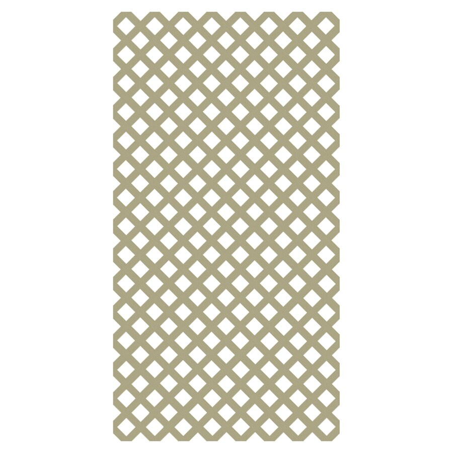 Freedom (Common: 3/20-in x 48-in x 8-ft; Actual: 0.15-in x 47.53-in x 7.92-ft) Better Than Treated Vinyl Traditional Lattice