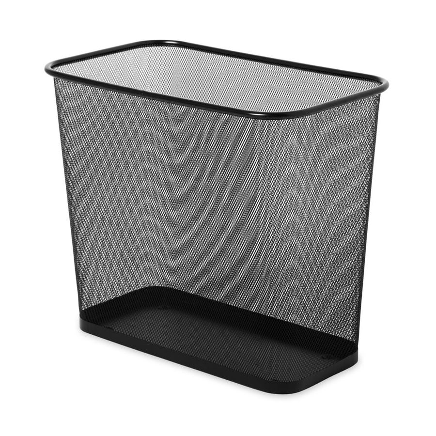 Rubbermaid Commercial Products 7.5-Gallon Black Metal Trash Can