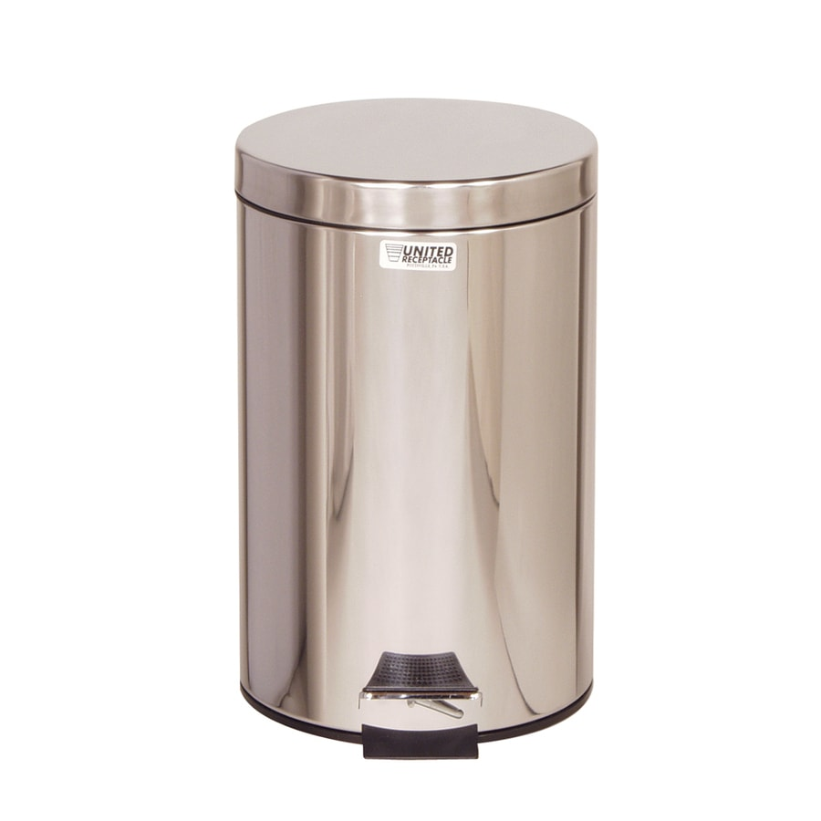 Rubbermaid Commercial Products Medi-Can 3.5-Gallon Stainless Steel Steel   Touchless Trash Can with Lid