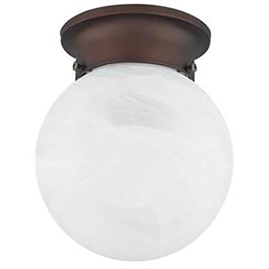 Ashton 6-in W Rubbed Bronze Flush Mount Light