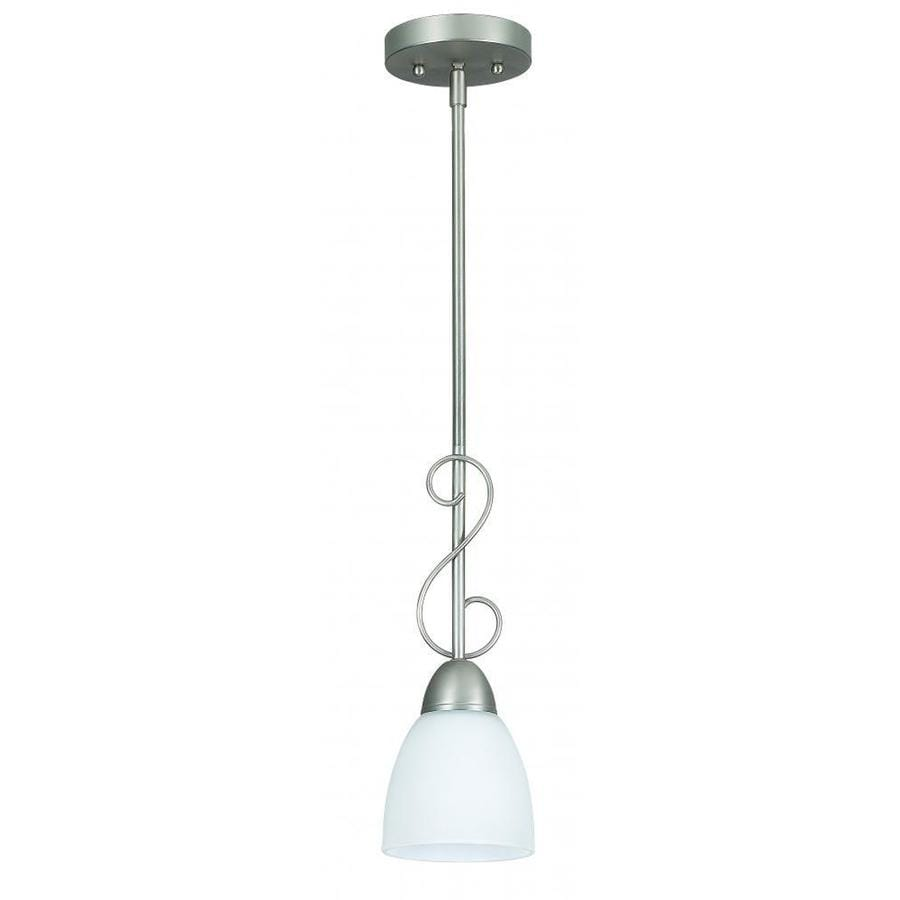 Ashton 5-in Satin Nickel Mini N/A Pendant