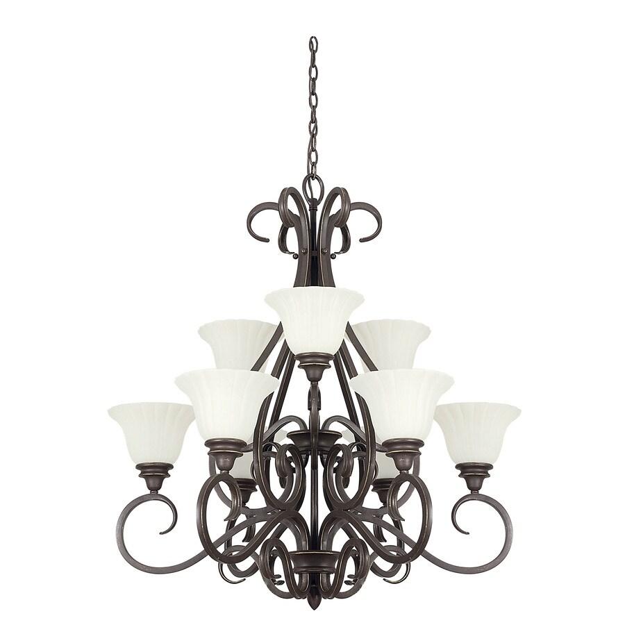 Shop ashton 9 light black onyx chandelier at lowes ashton 9 light black onyx chandelier aloadofball Gallery
