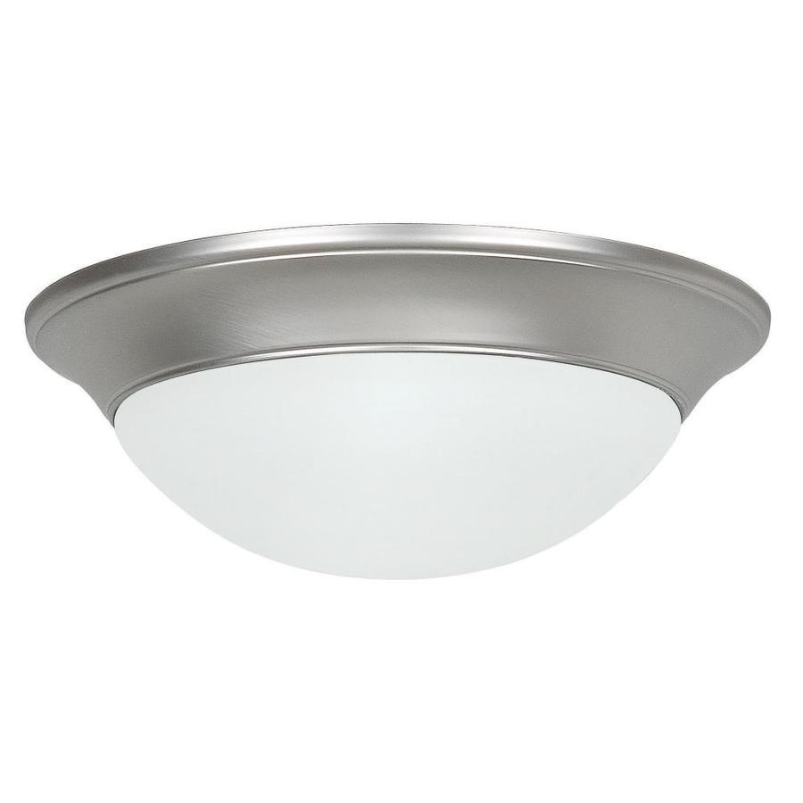Ashton 14-in W Rubbed Bronze Standard Flush Mount Light