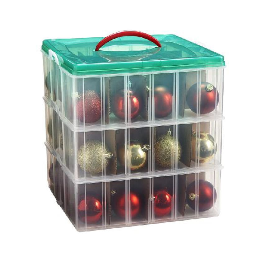 snap n stacktm 3 tier ornament storage - Christmas Decoration Storage Containers