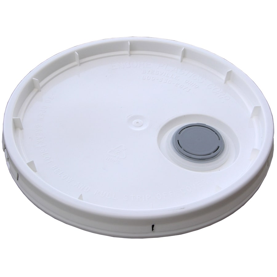 Encore Plastics 11.9-in White Plastic Bucket Lid