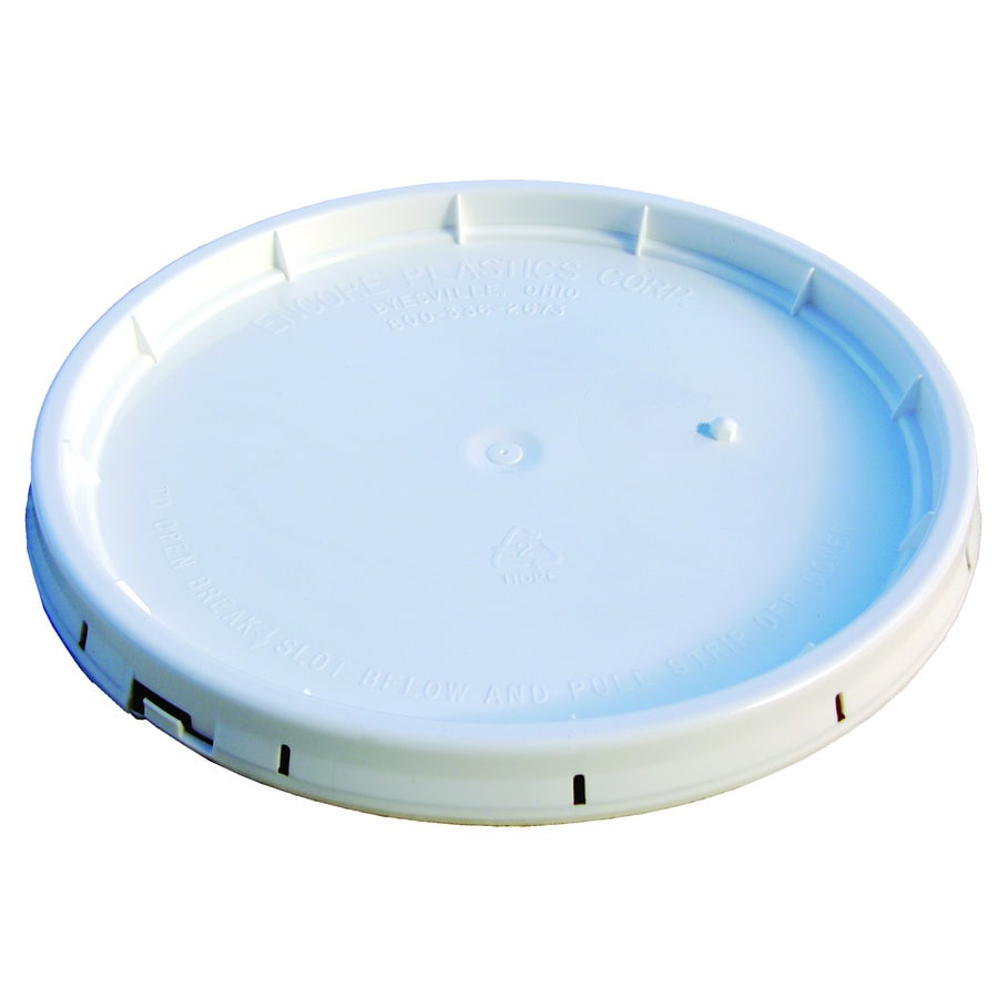 Encore Plastics 12.5-in White Plastic Bucket Lid