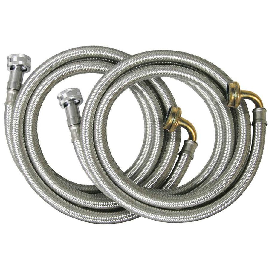 Watts 2-Pack 72-ft 125-PSI Braided Stainless Steel Washing Machine Connectors