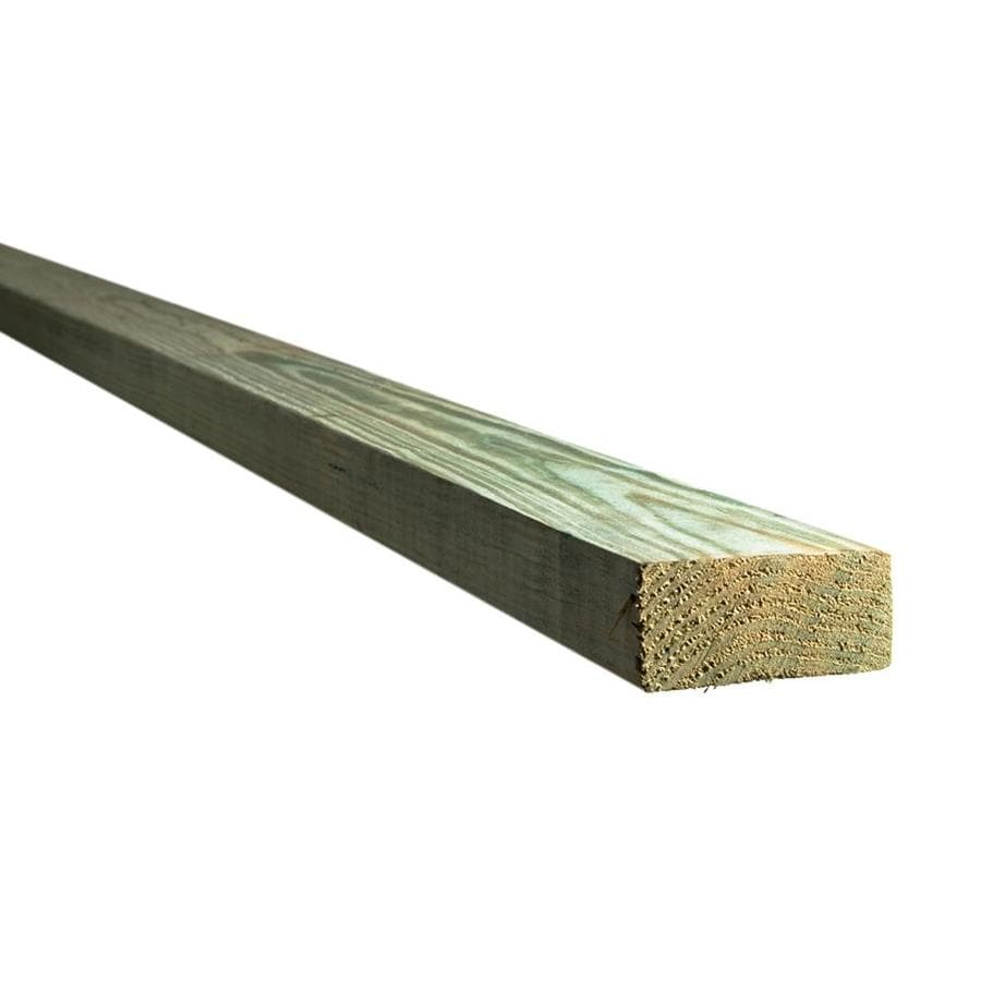 Top Choice (Common: 2-in x 4-in x 12-ft; Actual: 1.5625-in x 3.5625-in x 12-ft) Pressure Treated Lumber