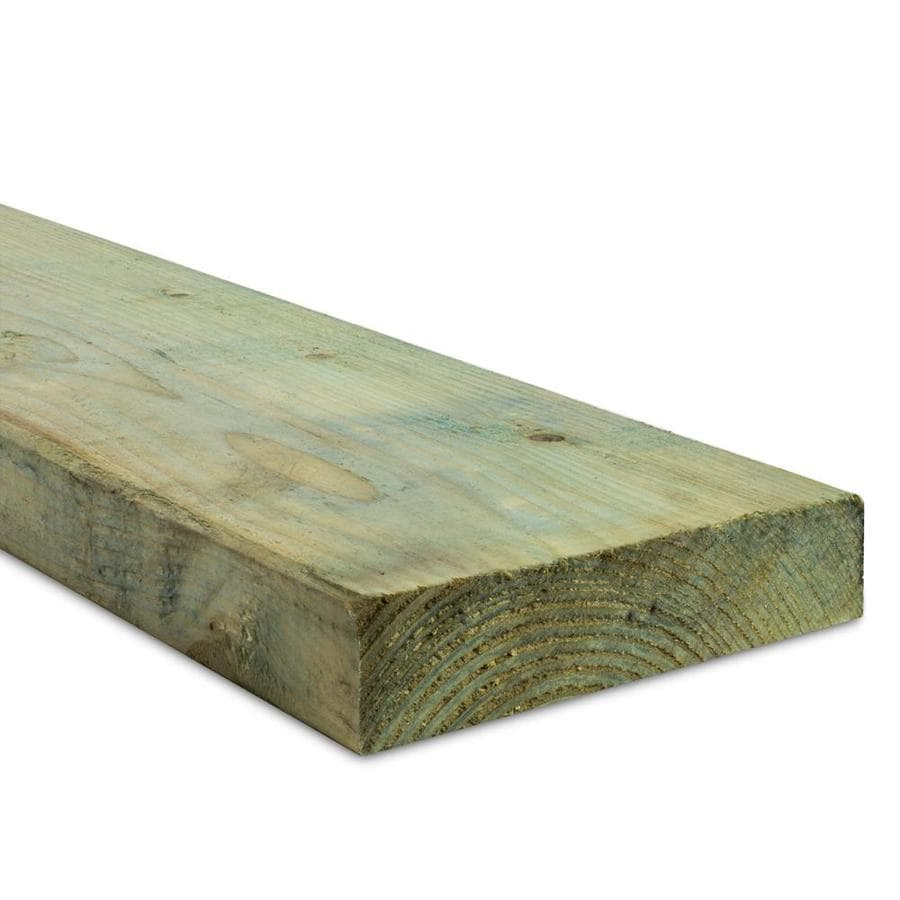 Top Choice (Common: 2-in x 8-in x 8-ft; Actual: 1.5625-in x 7.5-in x 8-ft) Pressure Treated Lumber