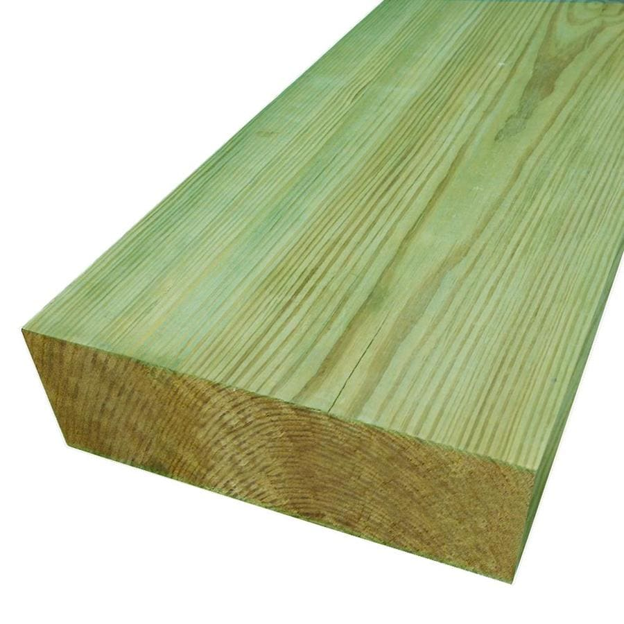 Pressure Treated (Common: 4-in x 8-in x 10-ft; Actual: 3.5625-in x 7.5-in x 10-ft) Lumber