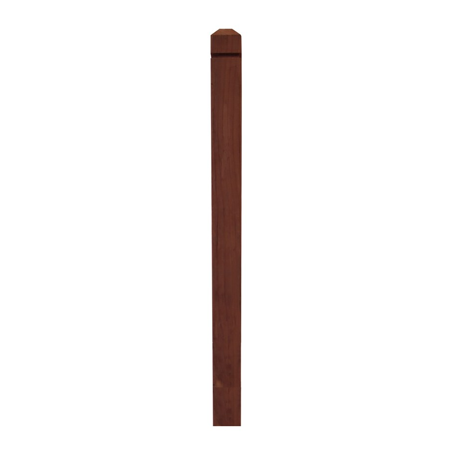 Top Choice Redwood Deck Post (Common: 4-in x 4-in x 4-ft; Actual: 3.5-in x 3.5-in x 4-ft)