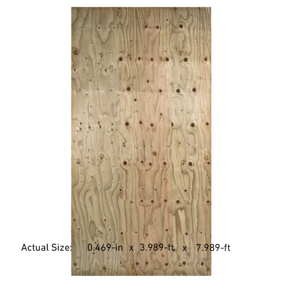 Severe Weather 1/2-in Common Douglas Fir Plywood Sheathing , Application as 4 X 8