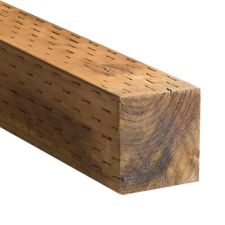 Severe Weather Pressure Treated (Common: 4-in x 4-in x 8-ft; Actual: 3.5625-in x 3.5625-in x 8-ft) Lumber