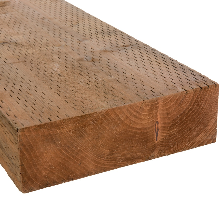 Severe Weather (Common: 4-in x 12-in x 16-ft; Actual: 3.5625-in x 11.5-in x 16-ft) Pressure Treated Lumber