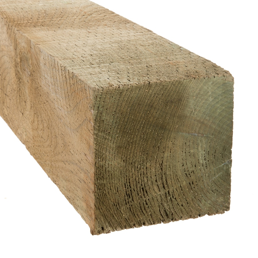 Severe Weather (Common: 6-in x 6-in x 8-ft; Actual: 5.75-in x 5.75-in x 8-ft) Pressure Treated Lumber