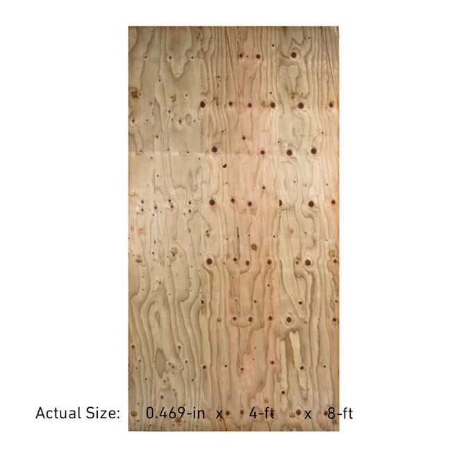 Severe Weather 1 2 In Common Douglas Fir Plywood Sheathing Application As 4 X 8 In The Plywood Department At Lowes Com