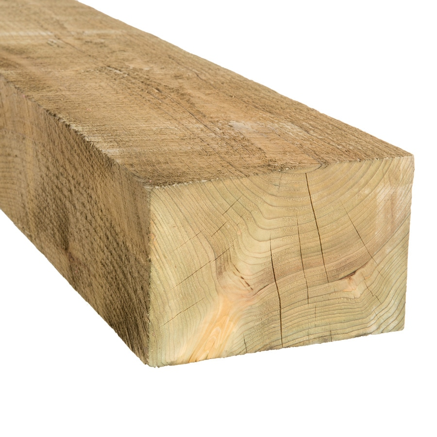 Severe Weather Pressure Treated Landscape Timber (Actual: 3.75-in x 5.5-in x 8-ft)