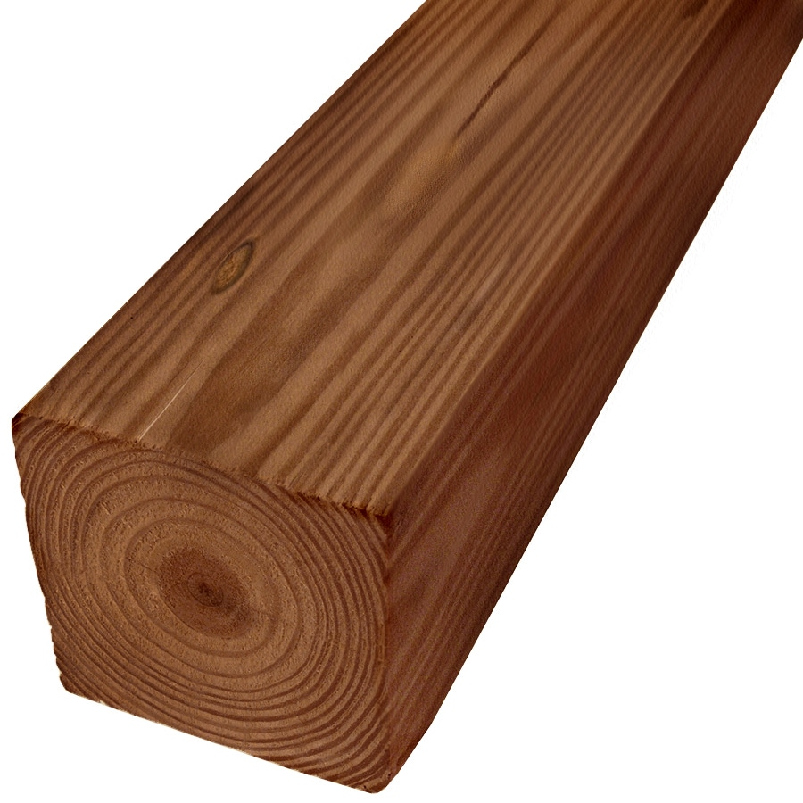Severe Weather Pressure Treated (Common: 4-in x 4-in x 8-ft; Actual: 3.5-in x 3.5-in x 8-ft) Lumber