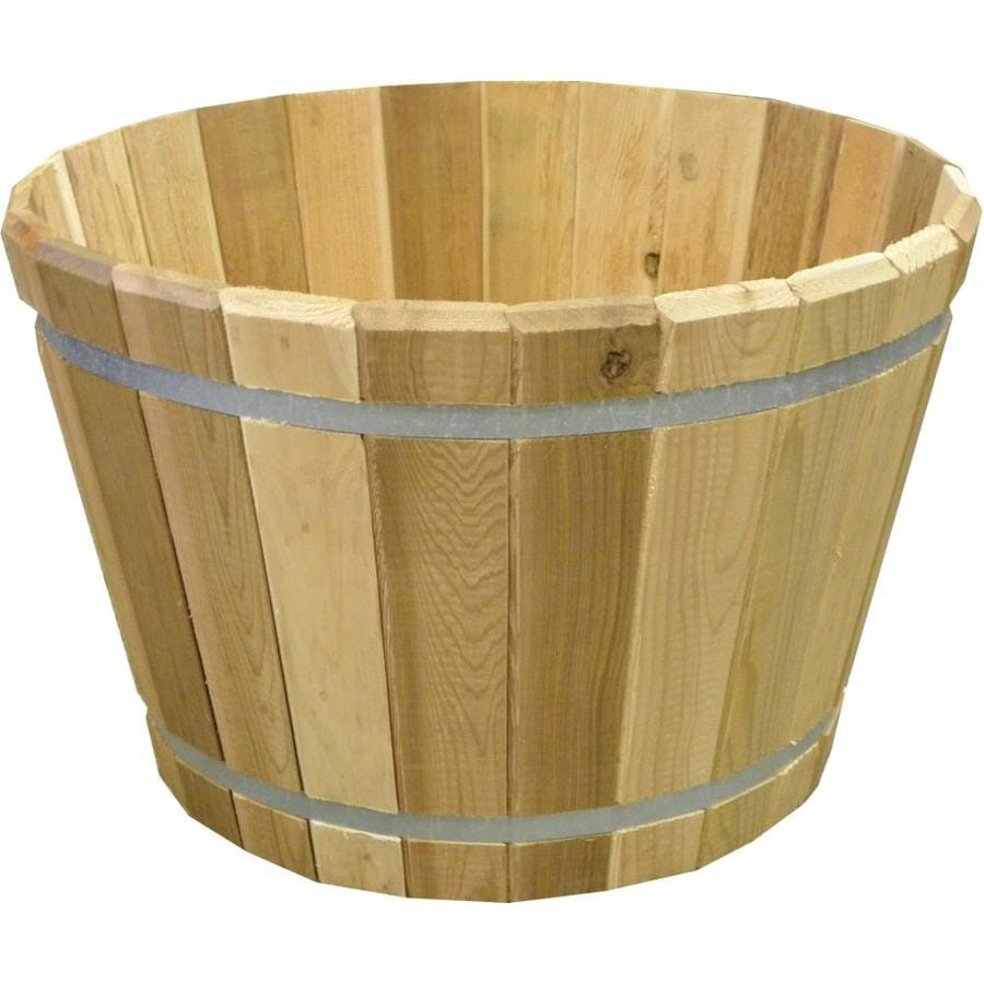 23.75-in x 15.75-in Natural Cedar Wood Natural Planter