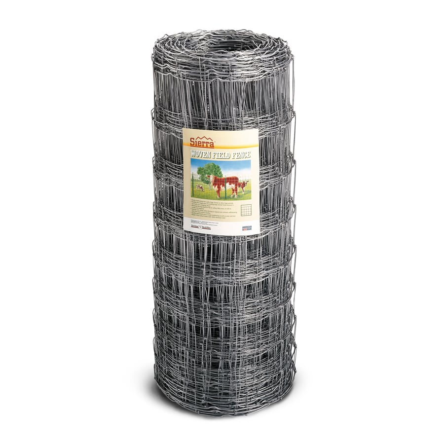 Sierra High Tensile Field Fence Silver Steel Woven Wire (Common: 330-ft x 4-ft; Actual: 330-ft x 4-ft)