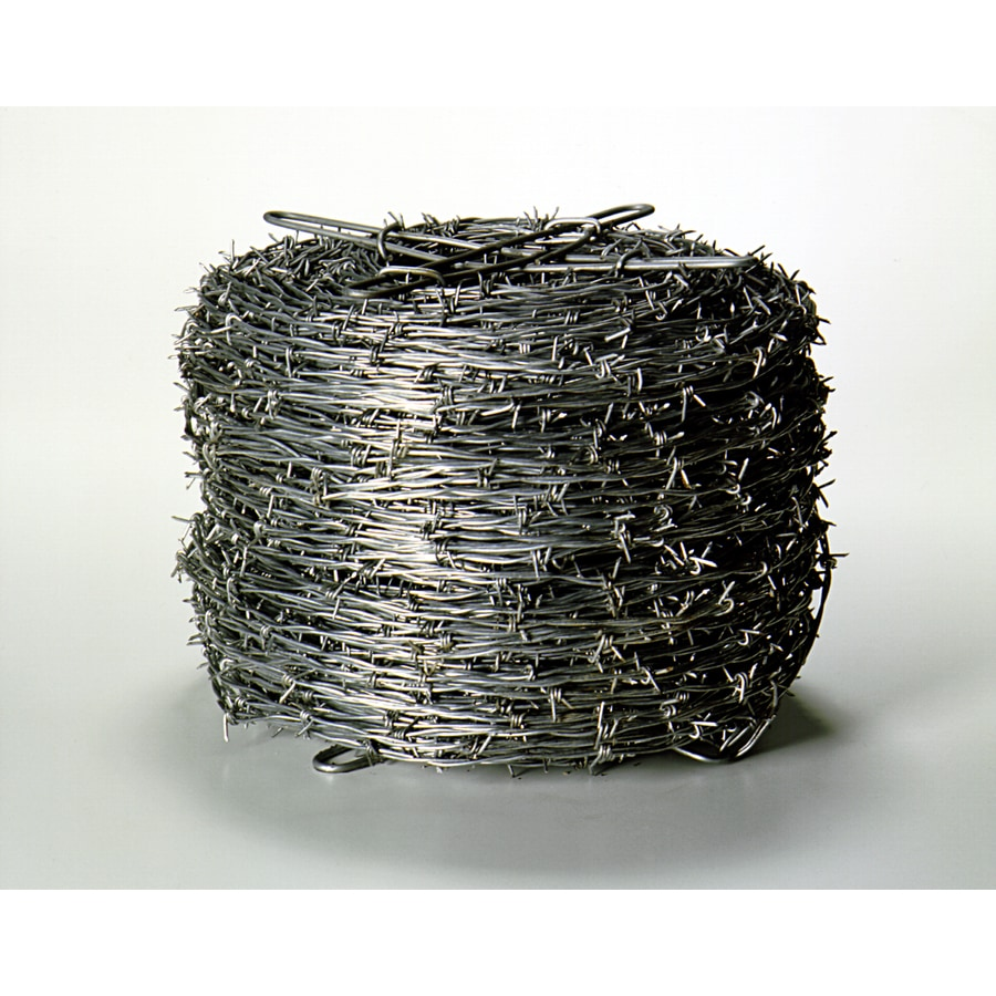 Sierra (Actual: 1320-ft x 1-ft) Barbed Wire Silver Steel Barbed Wire Rolled Fencing