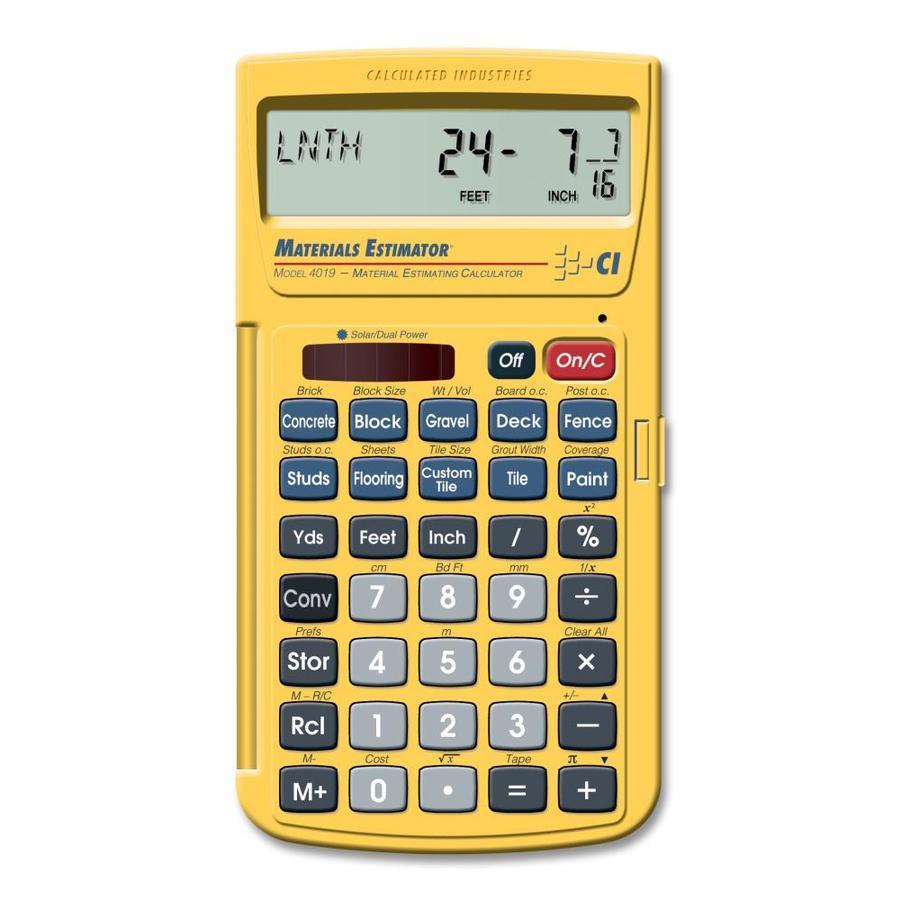 Calculated Industries Material Estimator Calculator