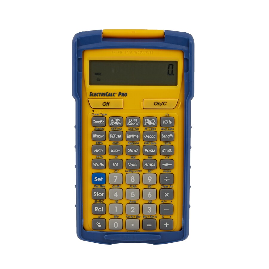 Calculated Industries ElectriCalc Pro Electrical Code Calculator Compliant with 2014, 2011, 2008, 2005, 2002, 1999, 1996 National Electrical Code