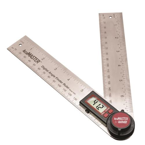 """200 mm Digital Protractor Angle Finder Stainless Steel Blades 82305 GemRed 7"""""""