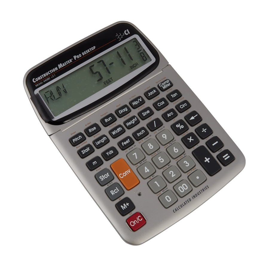 Shop calculated industries construction master pro desktop for Floor calculator math