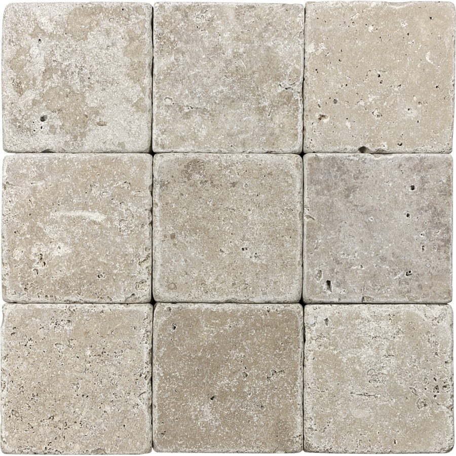 Shop 9 Pack 4 In X 4 In Noce Tumbled Marble Natural Stone