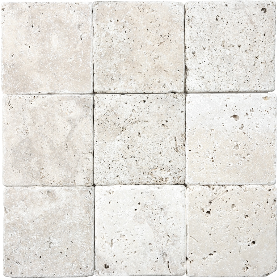 Shop 9 pack chiaro tumbled marble natural stone wall tile common 4 9 pack chiaro tumbled marble natural stone wall tile common 4 in dailygadgetfo Gallery