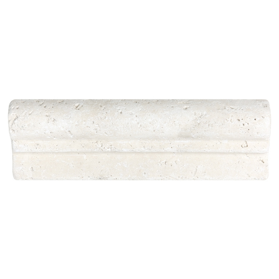Travertine Chair Rail 2 X 12 Part - 22: 2-in X 6-in Chiaro Travertine Natural Stone Chair Rail Tile