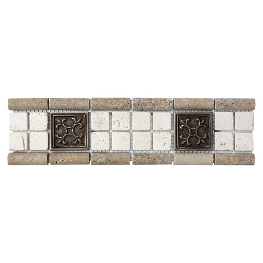 Chiaro Tile Backsplash: Shop 3-in X 12-in Chiaro With Metal Natural Stone Listello