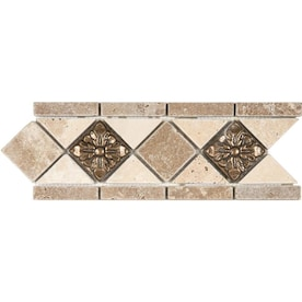 Travertine Accent Trim Tile At Lowes