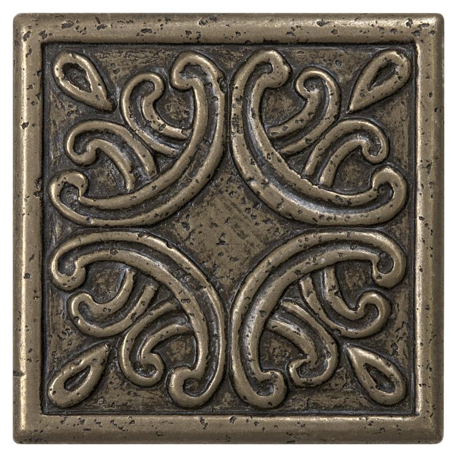 Anatolia Tile Roman Design Bronze Metal Border Tile (Common: 4-in x 4-in; Actual: 3.93-in x 3.93-in)