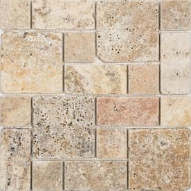 Anatolia Tile Scabos 12 In X Mixed Pattern Mosaic Travertine Wall