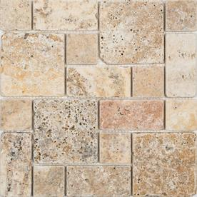 Anatolia Tile Scabos Mixed Pattern Mosaic Travertine Wall Common 12 In X