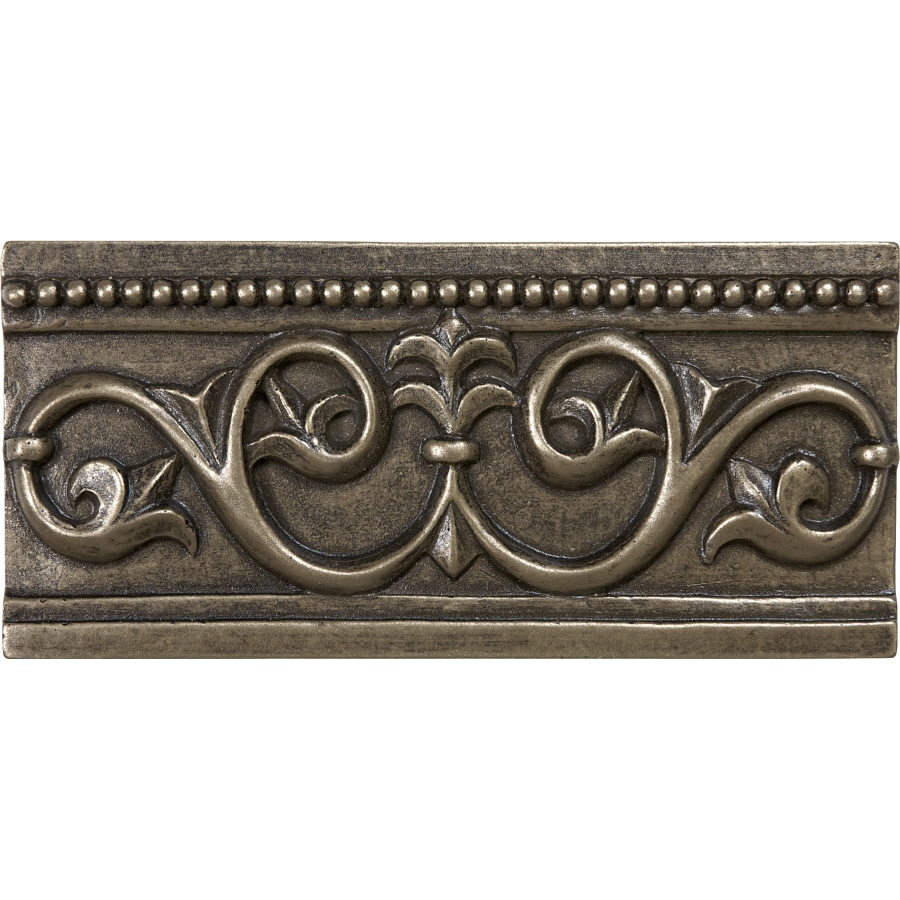 Anatolia Tile Bronze Metal Crown Tile (Common: 3-in x 6-in; Actual: 2.71-in x 5.9-in)