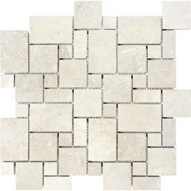 Anatolia Tile Chiaro Filled And Honed Versailles Mosaic Travertine Wall Common 12
